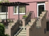 Obklady a dlažba na schodišti bytového domu