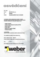 Weber - certifikat