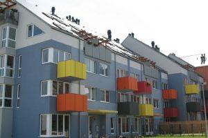 Moderně pojaté barevné provedení fasády