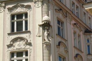 Historické fasády - rekonstrukce v Praze (detail)