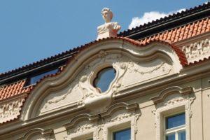 Historické fasády - rekonstrukce v Praze (vikýř)