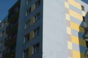 Malba na zateplené fasádě